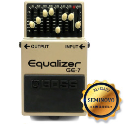 PEDAL BOSS GUITARRA GE7 EQUALIZER - SEMINOVO