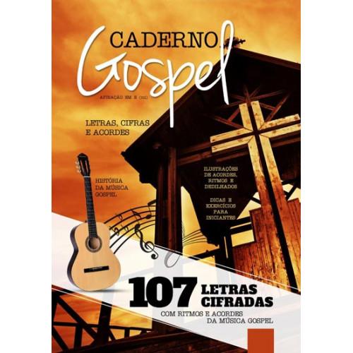 MÉTODO CADERNO GOSPEL - 107 Letras Cifradas - Ritmos e Acordes Letras, Cifras e Acordes para Viola e Violão
